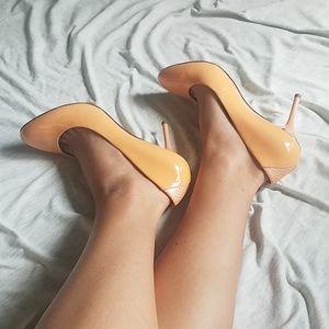 Peach colored Sam Edelman heels